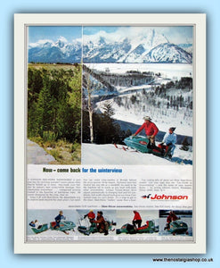 Johnson Snowmobiles 1961 Original Advert  (ref AD8100)