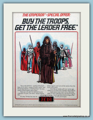 Star Wars Return Of The Jedi Figures Original Advert 1984 (ref AD6446)
