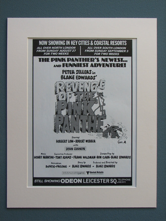 Revenge of the Pink Panther & Soundtrack advert 1978 (ref AD626)