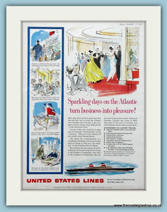 United States Lines Original Advert 1959 (ref AD2309)