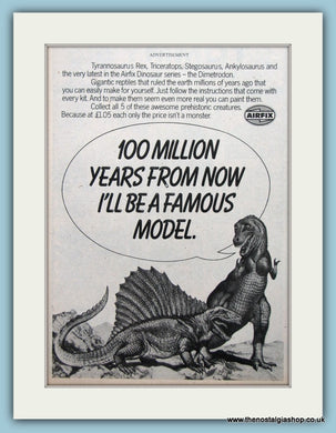 Airfix Dinosaur Series Models Original Advert 1979 (ref AD6438)