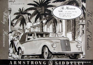 Armstrong Siddeley Hurricane 1952 Original Advert (ref AD1468)