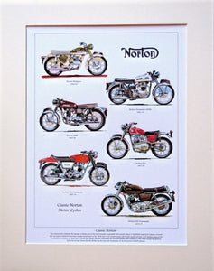 Norton  Motorcycles  Mounted print