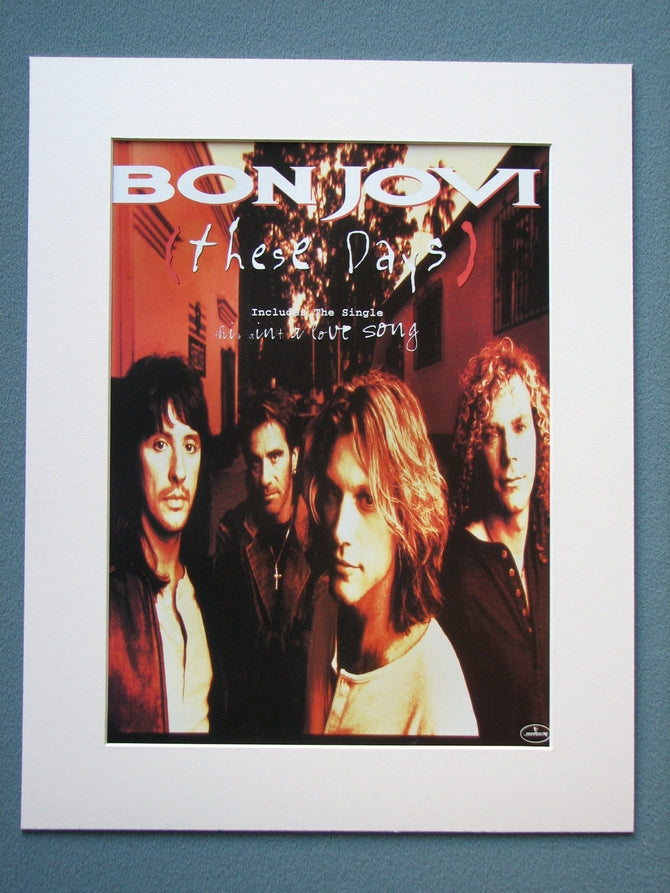 Bon Jovi, These Days. 1995 Original Advert (ref AD886)