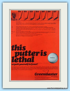Greenmaster Putters. Original Advert 1968 (ref AD4987)
