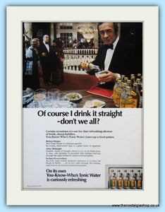 Schweppes Tonic Water Original Advert 1971 (ref AD5003)