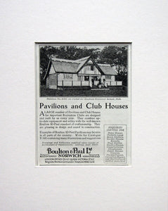 Pavilions and Club Houses. Original advert 1924 (ref AD1557)