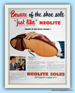 Neolite Shoe Soles. Original Advert 1950s (ref AD8023)