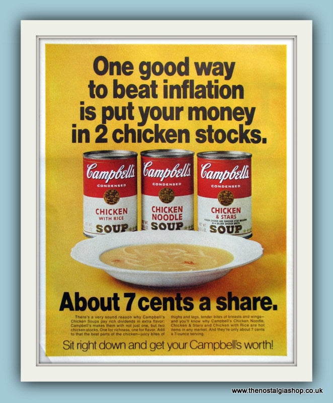 Campbell's Soup. Original Advert 1970 (ref AD8148)