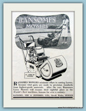 Load image into Gallery viewer, Ransomes Lawnmowers. Set of 2 Original Adverts 1940s (ref AD4623)