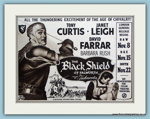 The Black Shield of Falworth starring Tony Curtis, 1954 Original Advert (ref AD3223)
