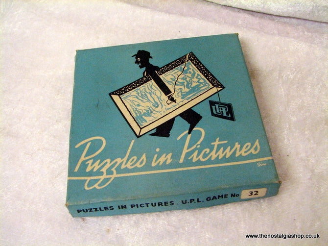 Puzzles in Pictures, Vintage Party Game. (ref nos060f)