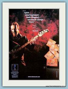 Rotosound Guitar Strings Featuring Billy Sheehan Original Advert 2002 (ref AD2346)