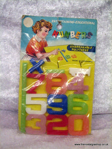 Numbers, Set of Polythene for kids. 1960s. (ref nos060g)