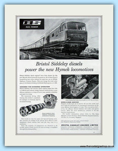 Hymek Locomotive Bristol Siddeley Diesels Original Advert 1962 (ref AD6490)