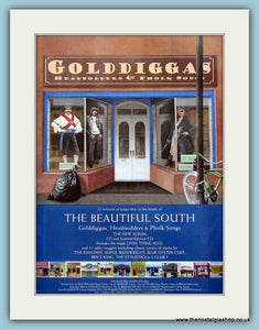 The Beautiful South Golddiggas, Headnodders & Pholk Songs Original Music Advert 2004 (ref AD3431)