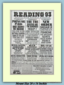Reading Festival 1993 Original Advert (ref AD9006)