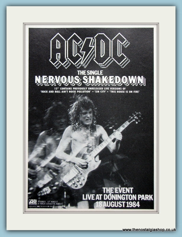 AC DC Nervous Shakedown 1984 Original Advert (ref AD3109)
