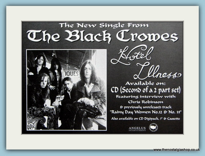 The Black Crowes Original Advert 1992 (ref AD1977)