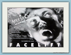 Alice in Chains, Facelift. Original Advert 1991 (ref AD1953)
