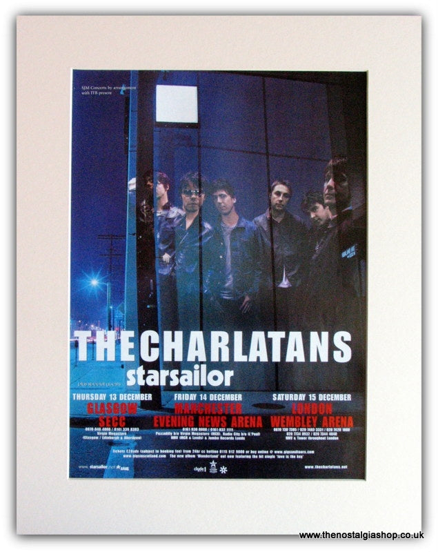 The Charlatans Tour Advert 2001 (ref AD1803)