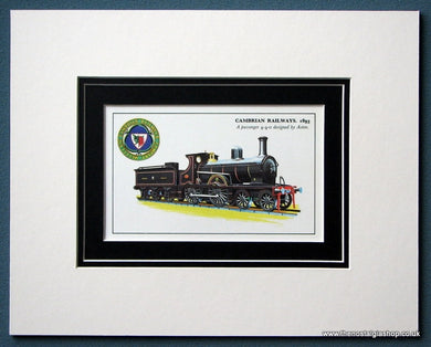 Cambrian Railway A Passenger 4-4-0 Mounted Print (ref SP15)