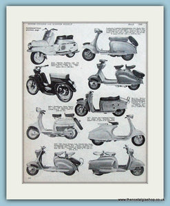Scooter Range 1960 2 Mounted pages. 1960 (ref AD4085)