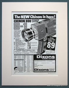 Chinon 800 Power Zoom Camera 1968 Original Advert (ref AD1070)