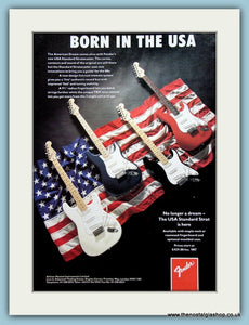 Fender Guitars Original Advert 1989 (ref AD2738)