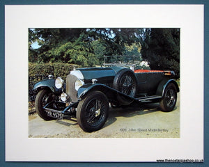 Bentley 3 Litre Speed Model 1926. Colour Photo Print 1973 (ref AD1334)