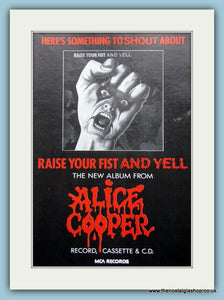 Alice Cooper Raise Your Fist And Yell 1987 Original Advert (ref AD3136)