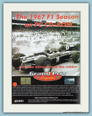 Grand Prix Legends F1 Original Advert 1998 (ref AD4019)