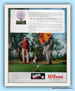Wilson Golf Balls. Original Advert 1956 (ref AD8106)
