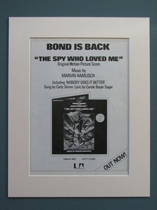 The Spy Who Loved Me 1977 Soundtrack advert (ref AD643)