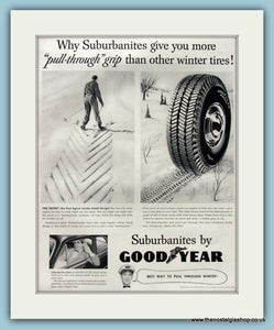 Goodyear Suburbanites Original Advert 1954 (ref AD8323)