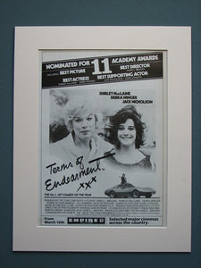Terms of Endearment 1984 Original advert (ref AD547)