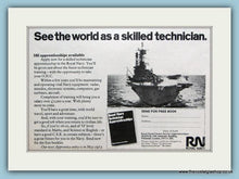 Load image into Gallery viewer, Royal Navy Technician. Set of 4 Original Adverts 1970's (ref AD6061)