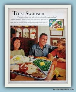 Swanson Turkey TV Dinner. Original Advert 1961 (ref AD8143)
