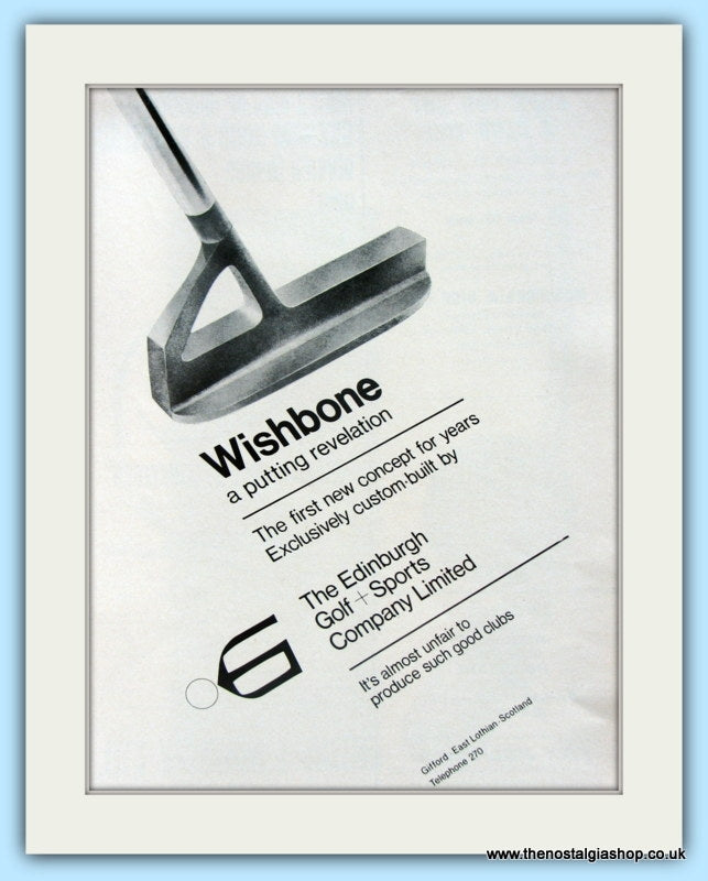 Wishbone Putters. Original Advert 1969 (ref AD4995)