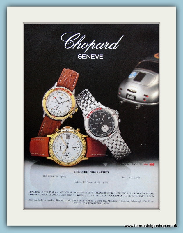 Chopard. Geneve. Original Advert 1990 (ref AD6119)