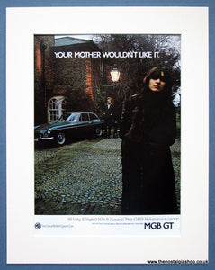 MGB GT. Original advert 1972 (ref AD1364)