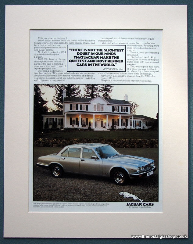 Jaguar Cars 1982 Original Advert (ref AD1102)