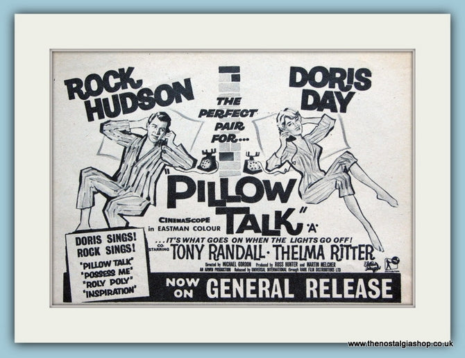 Pillow Talk, 1960 Original Advert starring Rock Hudson (ref AD3189)