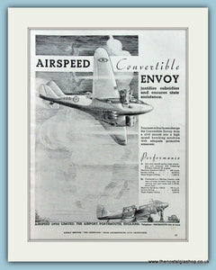 Airspeed Convertible Envoy. Original Advert 1937 (ref AD4209)