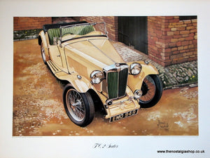 MG TC, 2-Seater, Classic Large Car Print.