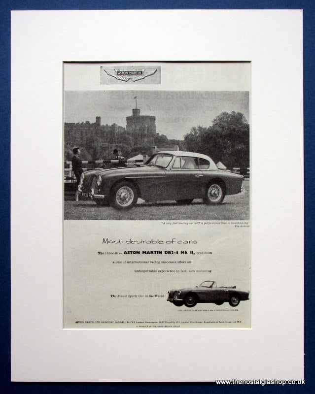 Aston Martin DB2-4 Mk II Drophead Coupe 1955 Original Advert (ref AD1441)