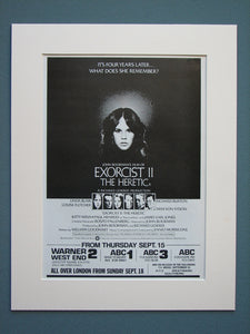 The Exorcist II 1978 Original advert (ref AD604)