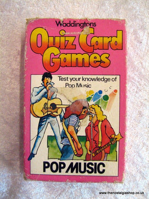 Waddingtons Pop Music Quiz Card Game 1981. (ref nos