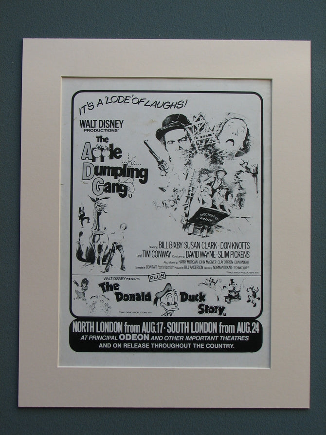 The Apple Dumpling Gang 1975 Original advert (ref AD636)