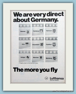 Lufthansa Airline Original Advert  1975 (ref AD2179)